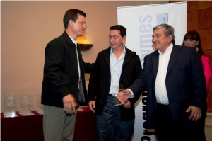 Edgardo Muratore, Gerente de Logísta de PAE Golfo San Jorge. Carlos y Javier De Castro. Electro Patagonia S.A.