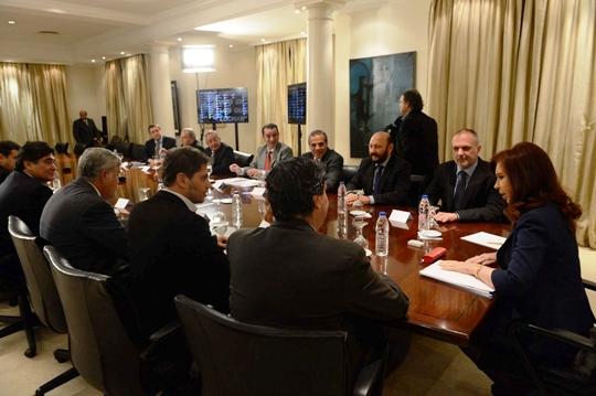 Reunión de gobernadores de la OFEPHI con Cristina Fernández de Kirchner