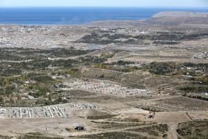 Producción en Chubut, vista de Comodoro Rivadavia.