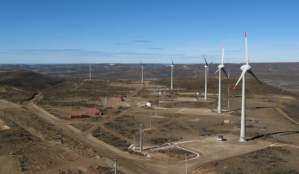 La empresa Hychico, vinculada a Capsa, ampliará su parque eólico. (Foto: web Hychico).